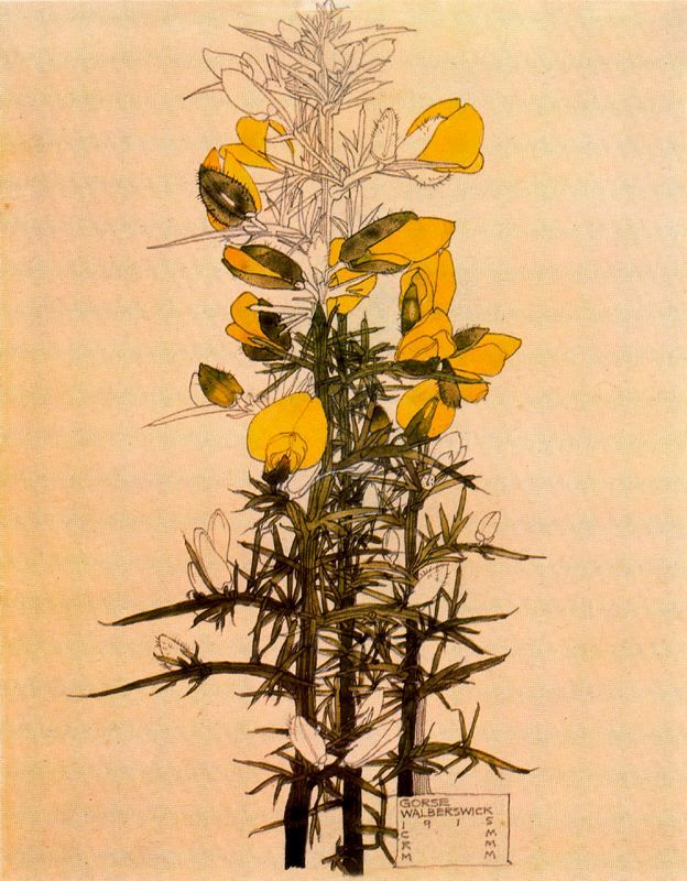 Gorse Walberswick  1918  by Charles Rennie Mackintosh (CRM) and Margaret Macdonald Mackintosh (MMM)