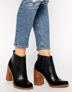 ASOS EVIL EYE Leather Mix Chelsea Ankle Boots