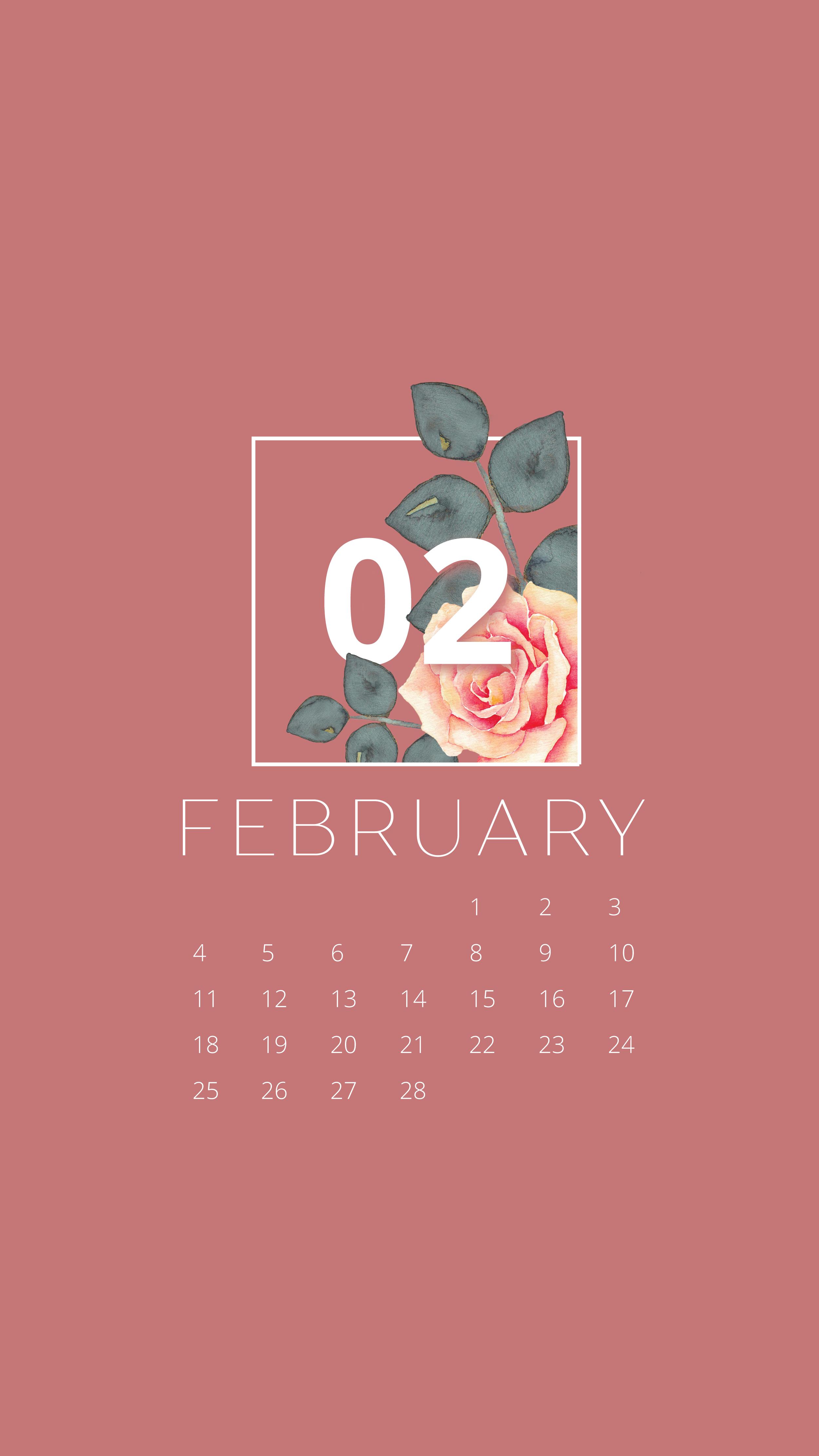 Free February 2018 Desktop & iPhone Wallpaper free