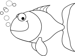 35++ Fish clipart black and white free ideas