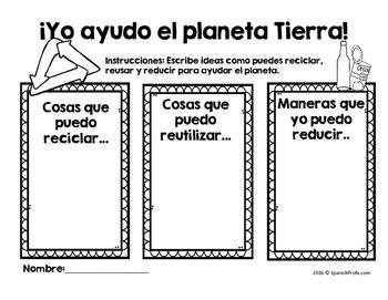 Earth Day & Recycling in Spanish (Actividades Dia de la