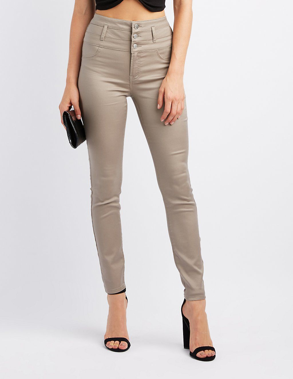 e79c1e9bd1 Refuge Hi-Waist Skinny Jeans   Charlotte Russe   Bottoms   Skinny ...