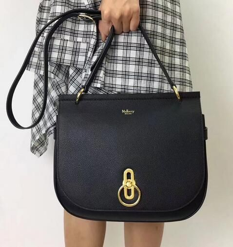 e3af43c1efa9  Cheap Mulberry bags 2017 Mulberry Fall Winter 2017 Amberley Satchel Black  Small Classic Grain