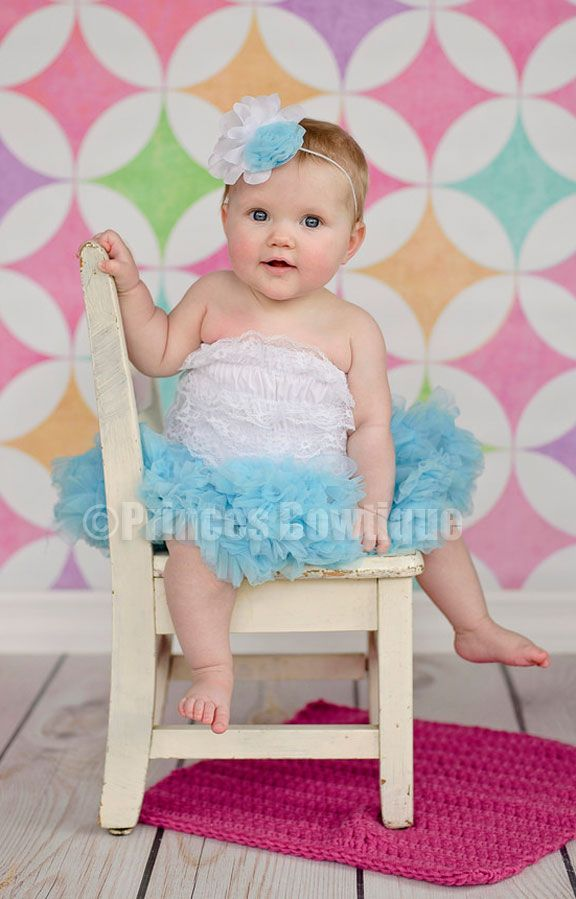 527bae7f17 Newborn to Toddler Ocean Blue Turquoise Baby Pettiskirt PettiCoat: Buy Baby  Headbands & Hair Bows at Princess Bowtique