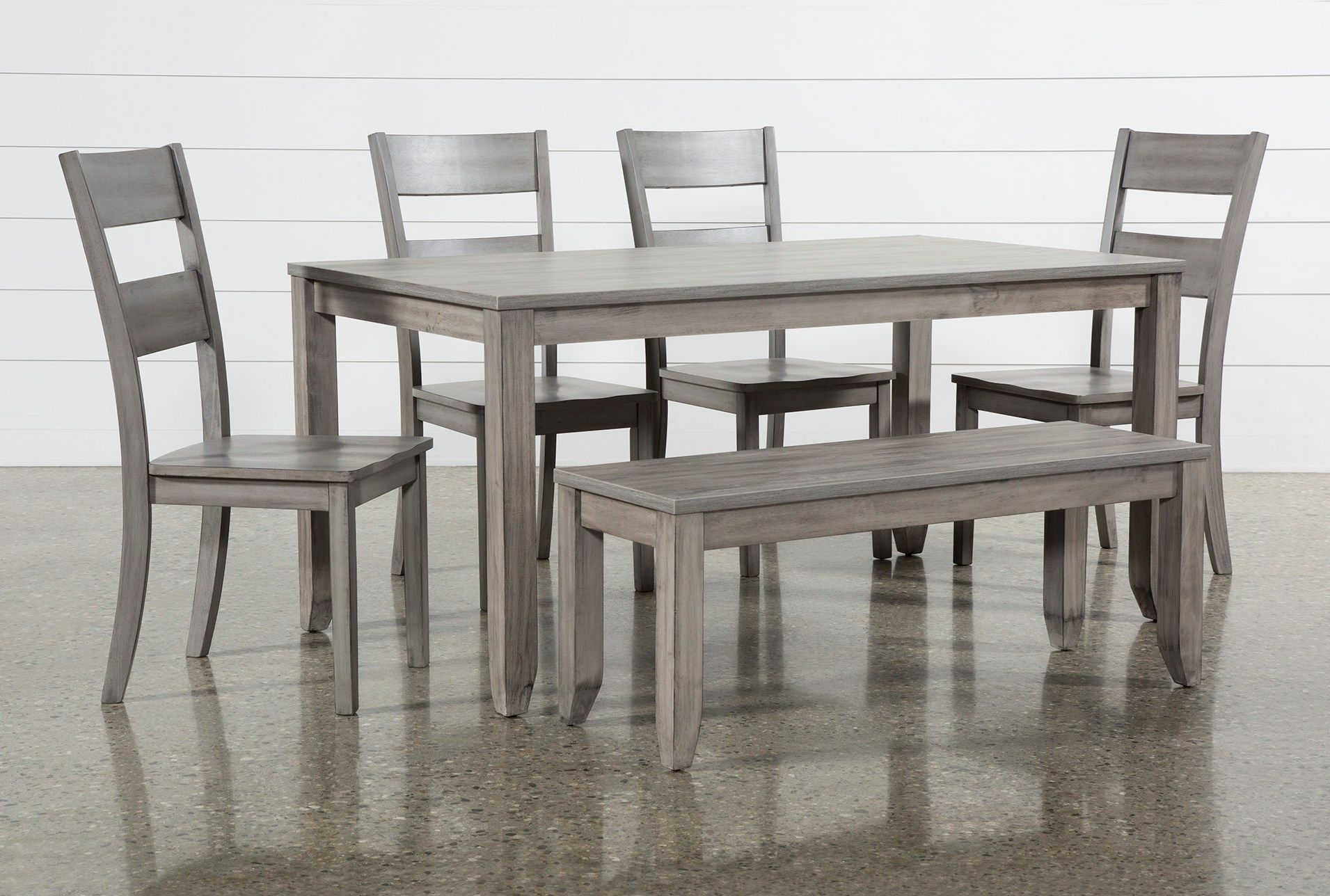 With Its Contemporary Lines And Distressed Finish The Matias Collection Brings A Simple Yet Defin Dining Room Sets Solid Wood Chairs Round Dining Table Sets