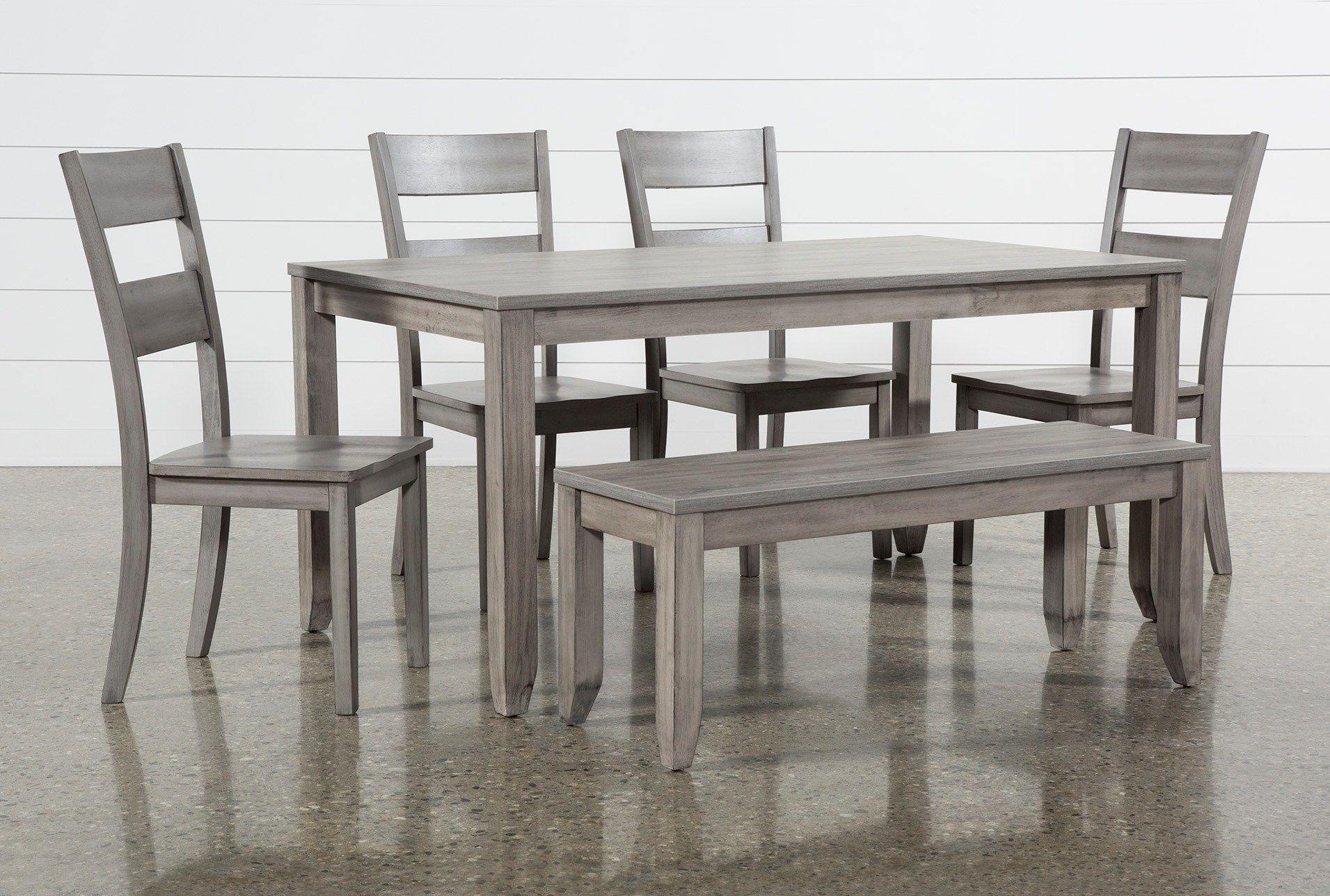 Matias Grey 6 Piece Dining Set Dining Room Sets Round Dining Table Sets Dining Room Table Set