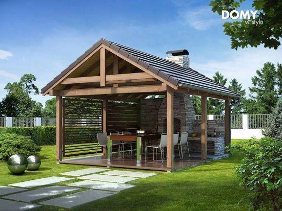 Foisor De Gradina Modern Cu Gratar Cu Plita Modern Gazebo Gazebo Outdoor Fireplace Designs