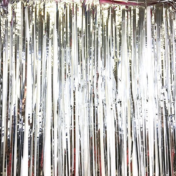 Foil Fringe Curtain Backdrop 6ft x 2ft Silver  This dazzling backdrop will add #curtainfringe