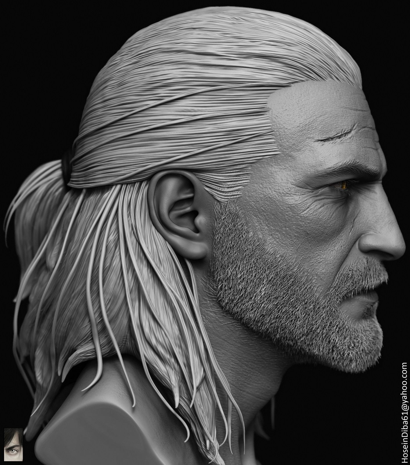 Artstation Geralt Of Rivia Done For Custom Witcher Series