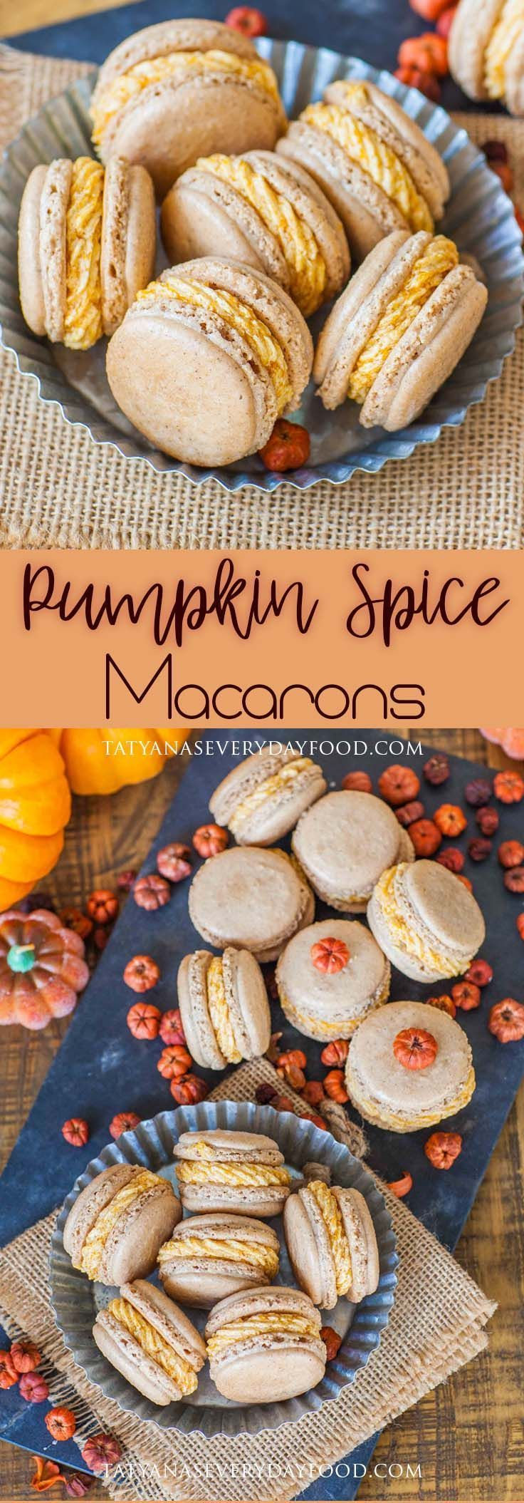 Pumpkin Spice Macarons - Tatyanas Everyday Food