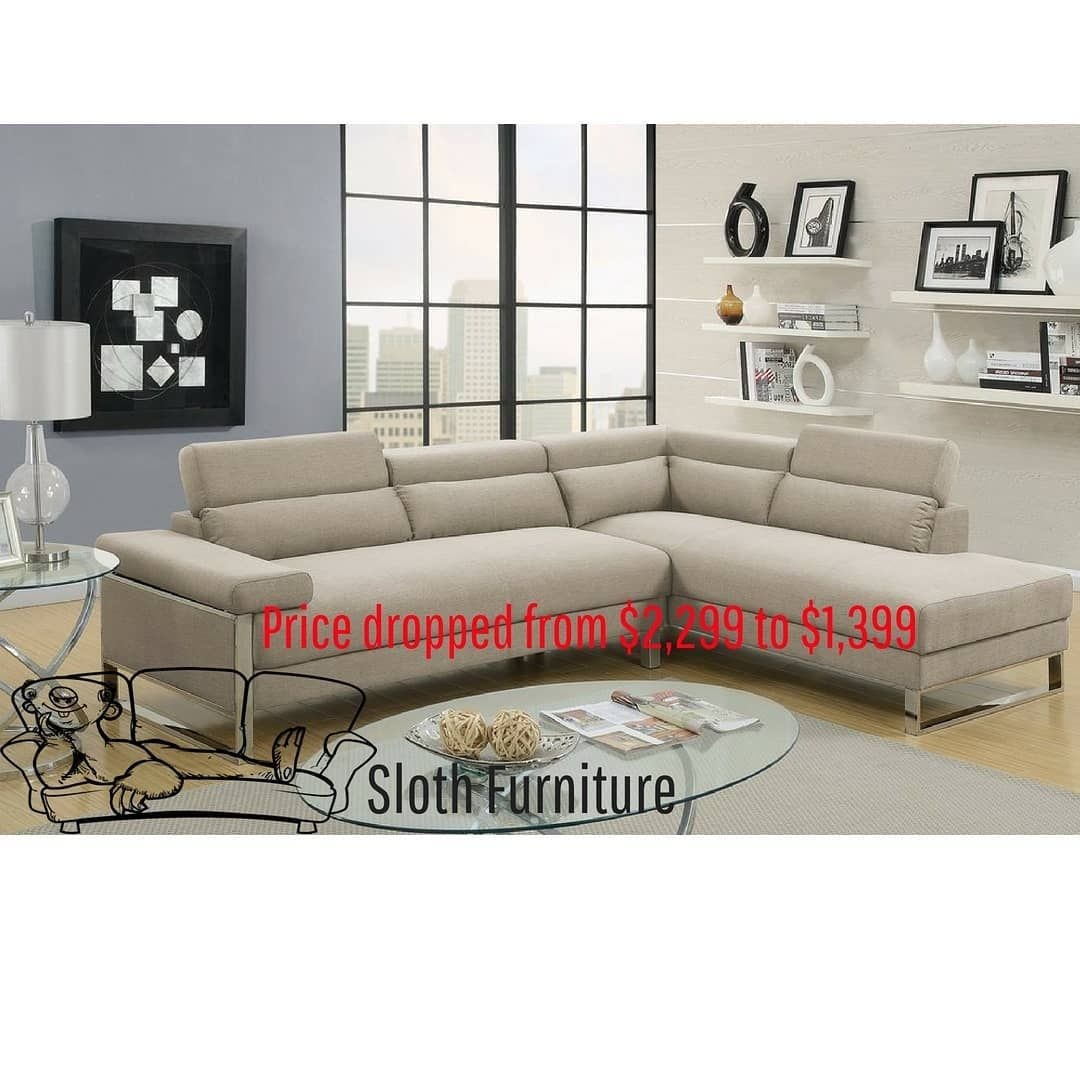 La lounge beige ultra modern design with wide seating spaces adjustable head rests and stylish chrome legs price slashed from 1899