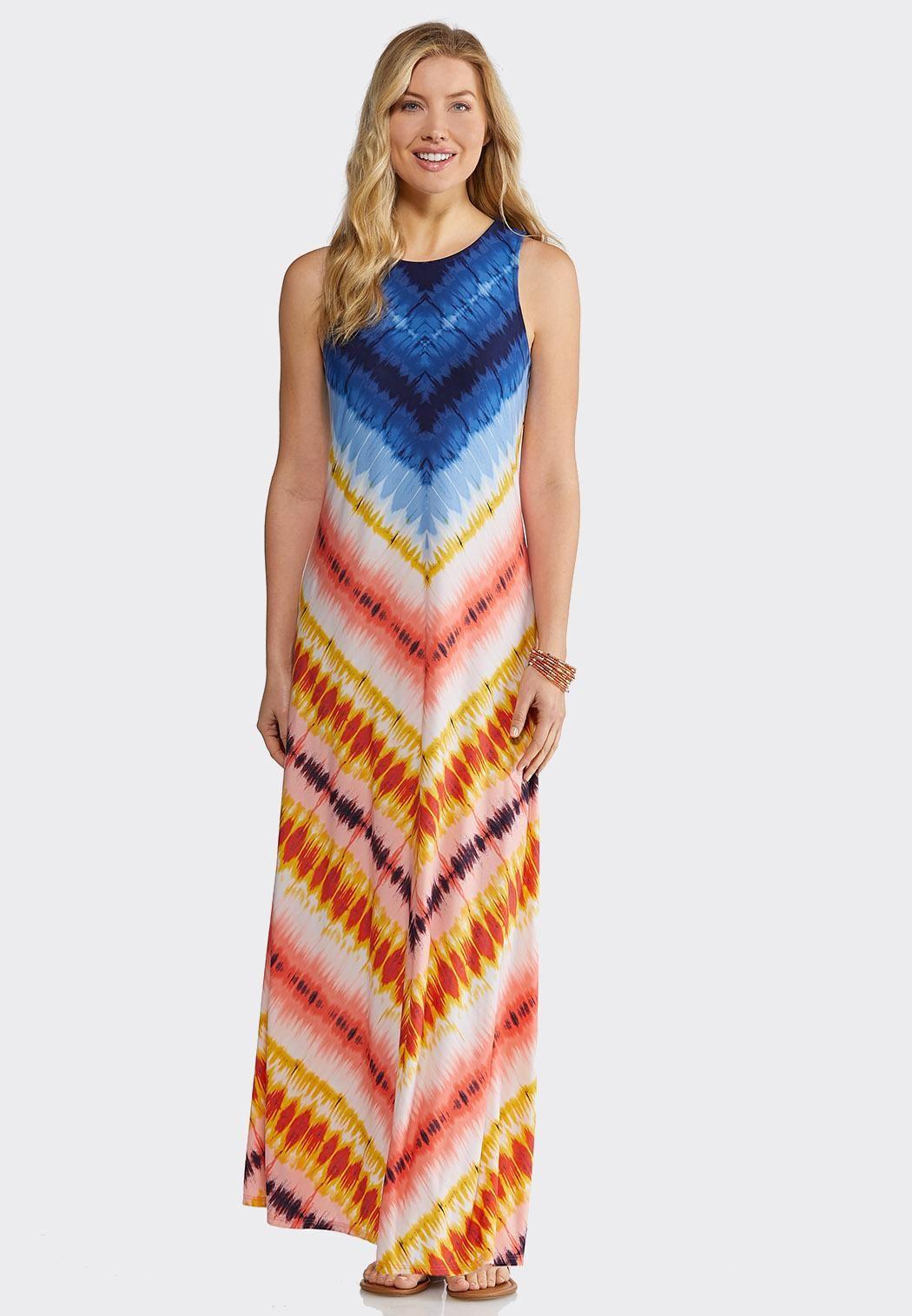 13781544c96 Chevron Tie Dye Maxi Junior Misses Cato Fashions in 2019