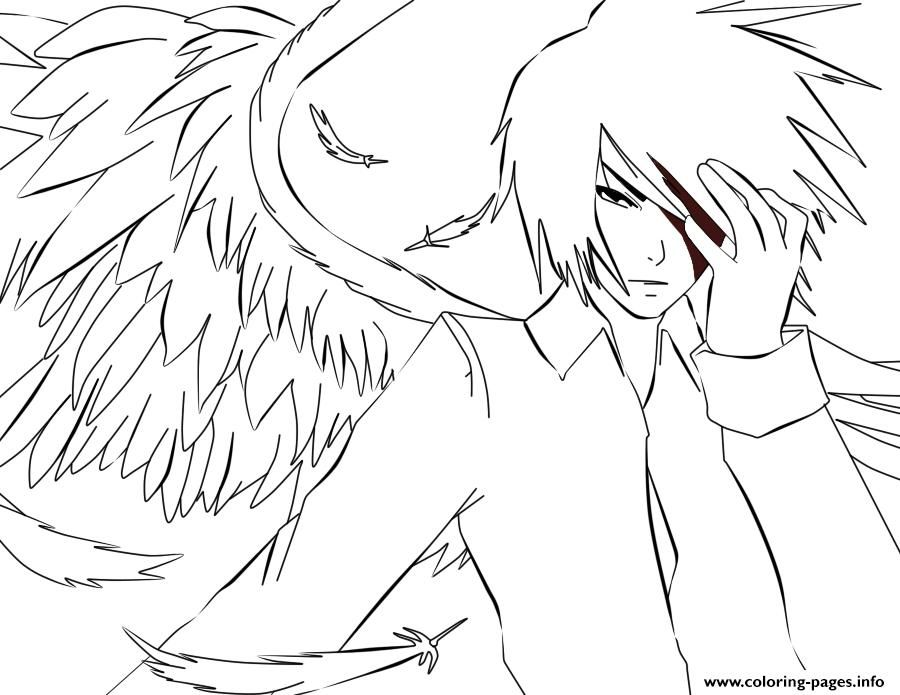 Print White Anime Angel Coloring Pages Angel Coloring Pages Angel Drawing Anime Art Dark