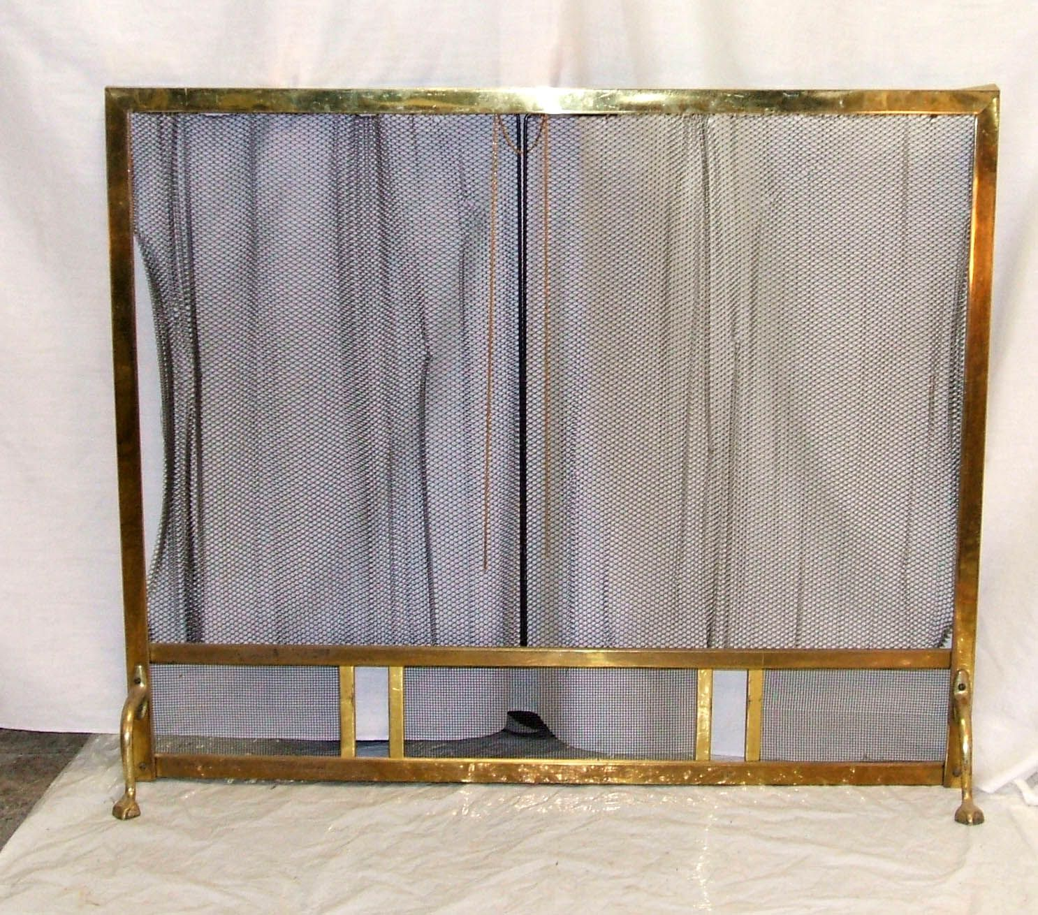 Brass Fire Screen With Curtain Watchtower Stairs Curtains