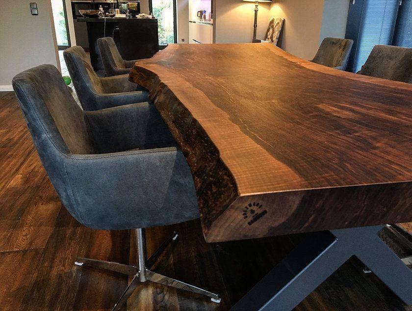 Nussbaumtisch Baumtisch Esstisch Massivholztisch aus