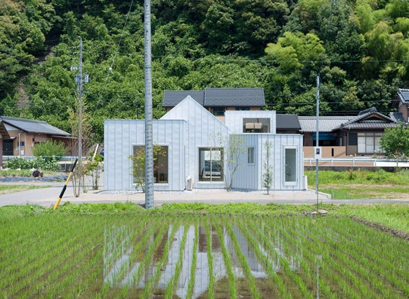 Metallic House N By Naoya Kitamura Contrasts The Rich Japanese Countryside