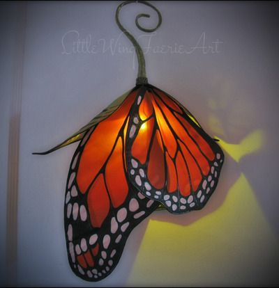 Emerging Monarch Butterfly Silk Portable Lantern Flower Lamp Cool Lamps Beautiful Lighting