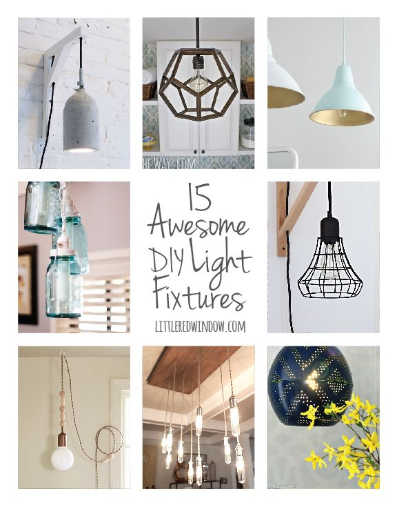 15 Awesome DIY Light Fixtures Little Red Window | Diy