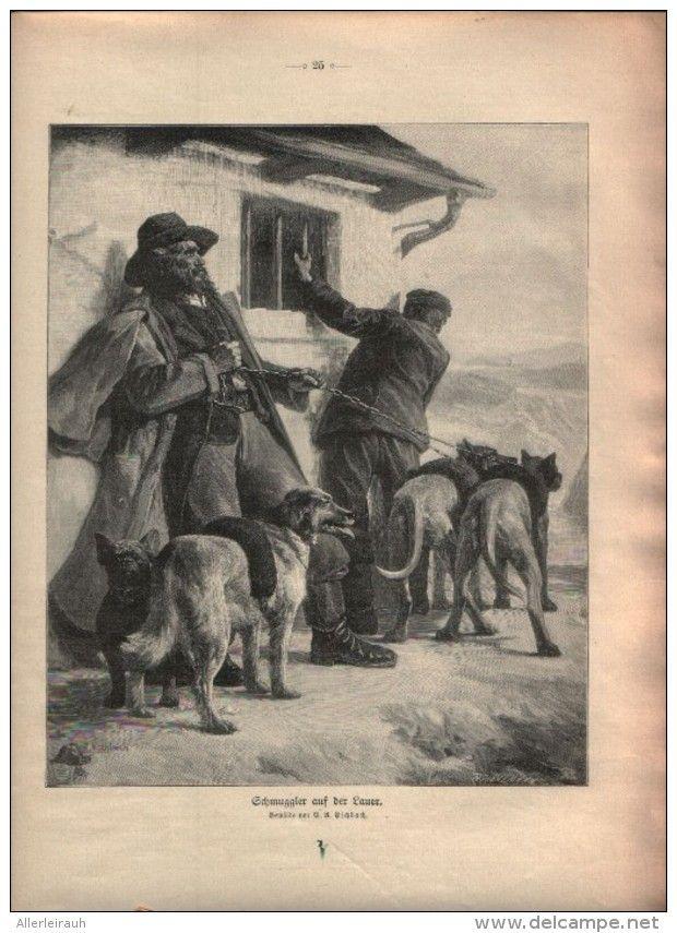 Schmuggler Auf Der Lauer Druck Entnommen Aus Die Gartenlaube 1910 Artikelnummer 396428554 Gartenlaube Laub Und Drucken