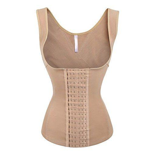 98ba6b1c3c539 Eleady Women s Underbust Corset Waist Trainer Cincher Steel Boned Body  Shaper Vest with Adjustable Straps (M