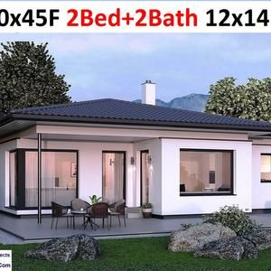 60x50 House 3 Bedroom 2 5 Bath 1 703 sq ft PDF Floor Plan Instant Download Model 1F