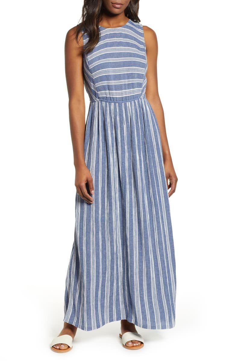 Caslon Smocked Back Maxi Dress Regular Petite Nordstrom Maxi Dress Long Dresses Casual Maxi Dresses [ 1196 x 780 Pixel ]