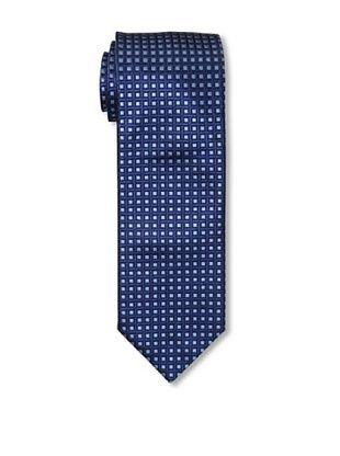 Massimo Bizzocchi Men's Square Tie, Blue