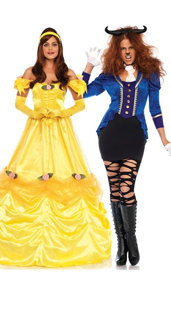 Bell of the Ball Costume Duo costumes, Beast costume and Princess - black skirt halloween costume ideas