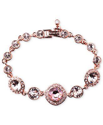 Givenchy Bracelet Rose Gold Tone Swarovski Vintage Stone A Macy S Exclusive
