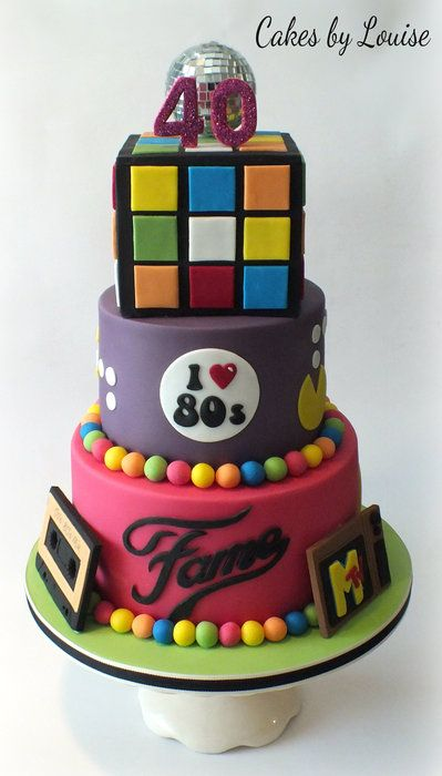 80's Disco Cake - by cakesbylouise @ CakesDecor.com - cake decorating website