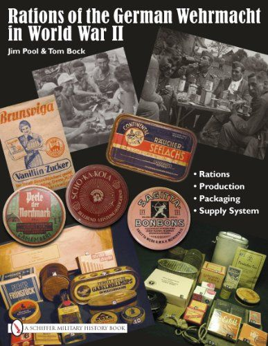 This book is the definitive reference on the topic. Lavishly illustrated with over 600 photographs and over 200 charts, wartime advertisements and other educational aids, it represents the most accurate and detailed look at the rations provided to the German soldier in World War II. Relying mainly on wartime German and American references, most unknown to the general public, this book dispels the many myths associated with German rations of World War II. Covering all the majo