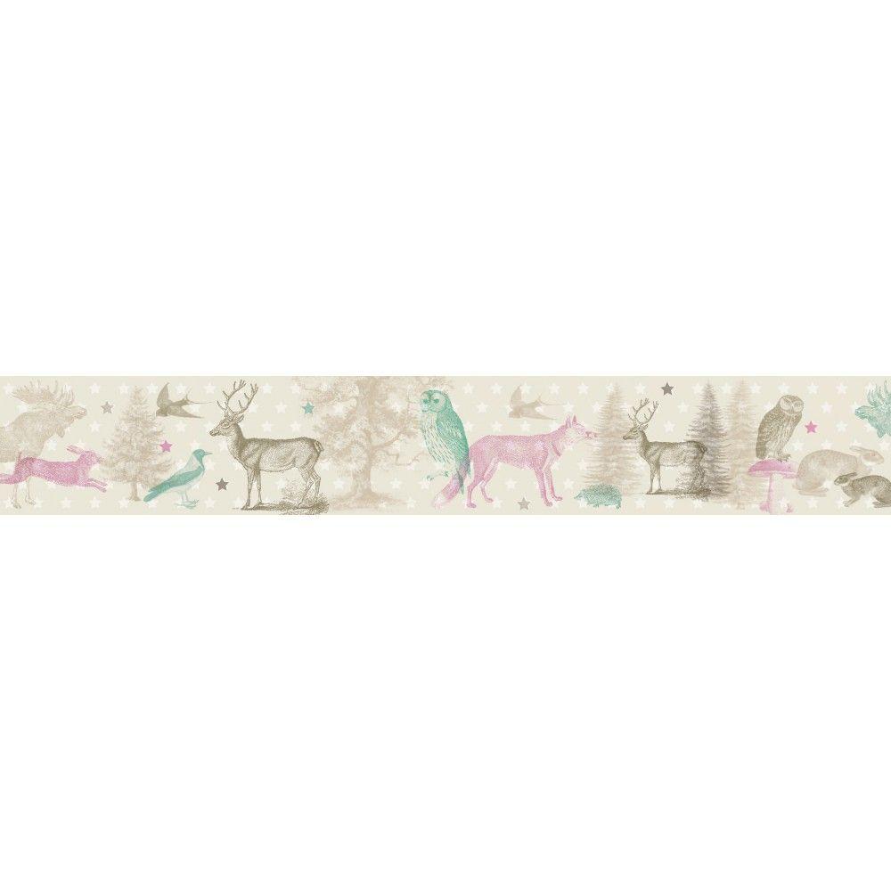 Selbstklebende Bordure Waldtiere Forest Animals Anna Wand Design Tapeten Borduren Waldtiere Selbstklebende Bordure