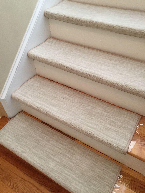Best Velvet Chic Bisque True Bullnose™ Padded Carpet Stair 400 x 300