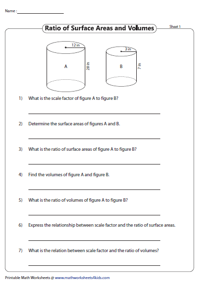Scale Factor Relationship To Surface Area And Volume Math About Me Surface Learning Math