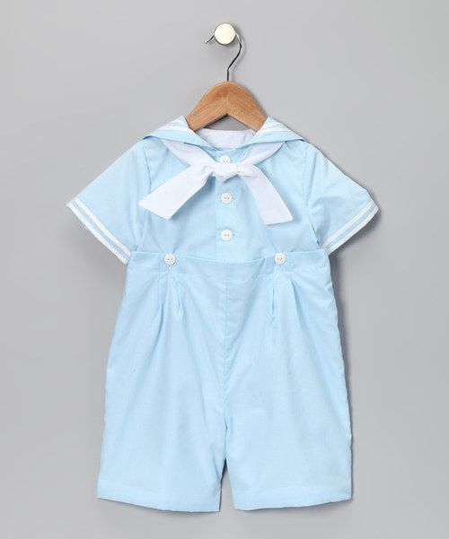 Take a look at this Katie & Co. Light Blue Nautical Romper - Infant & Toddler on zulily today!  @Christina Childress Marien
