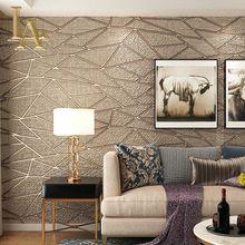 Alta Calidad Gruesa Flocado Moderna Geometria 3d Papel Tapiz Para - Papeles-de-decoracion-para-paredes
