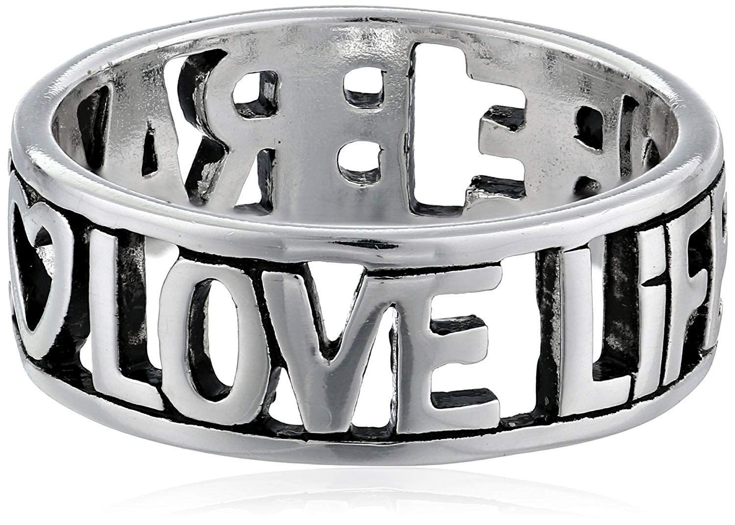 Sterling Silverlove Life Be Brave Cut Out Ring We Appreciate