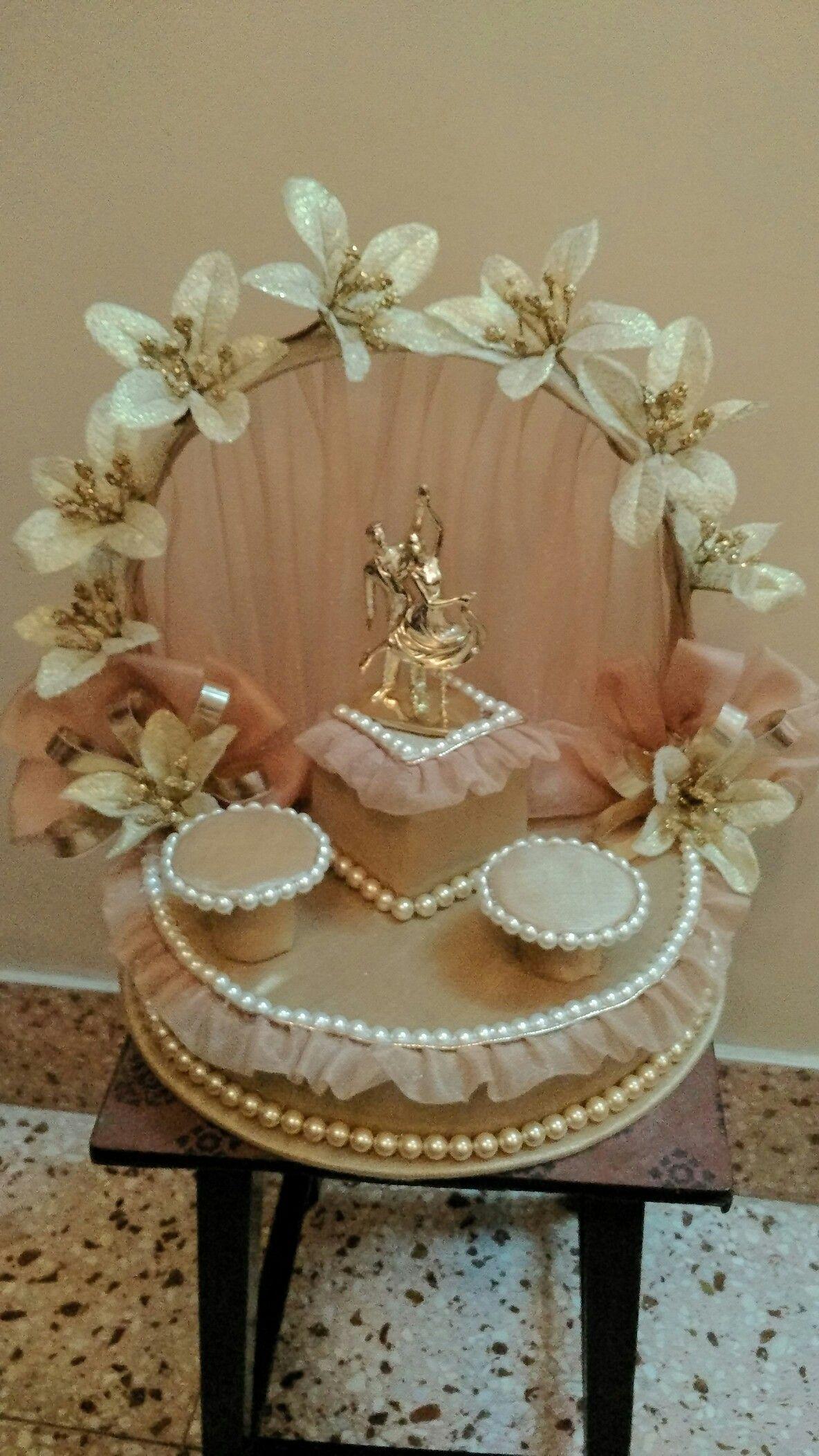 Engagement Ring Platter Ribbon Flower Engagement Ring Platter