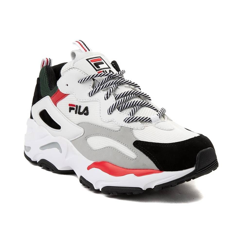 29ee9eb6bbad Womens Fila Ray Tracer Athletic Shoe - White Black Red - 452042