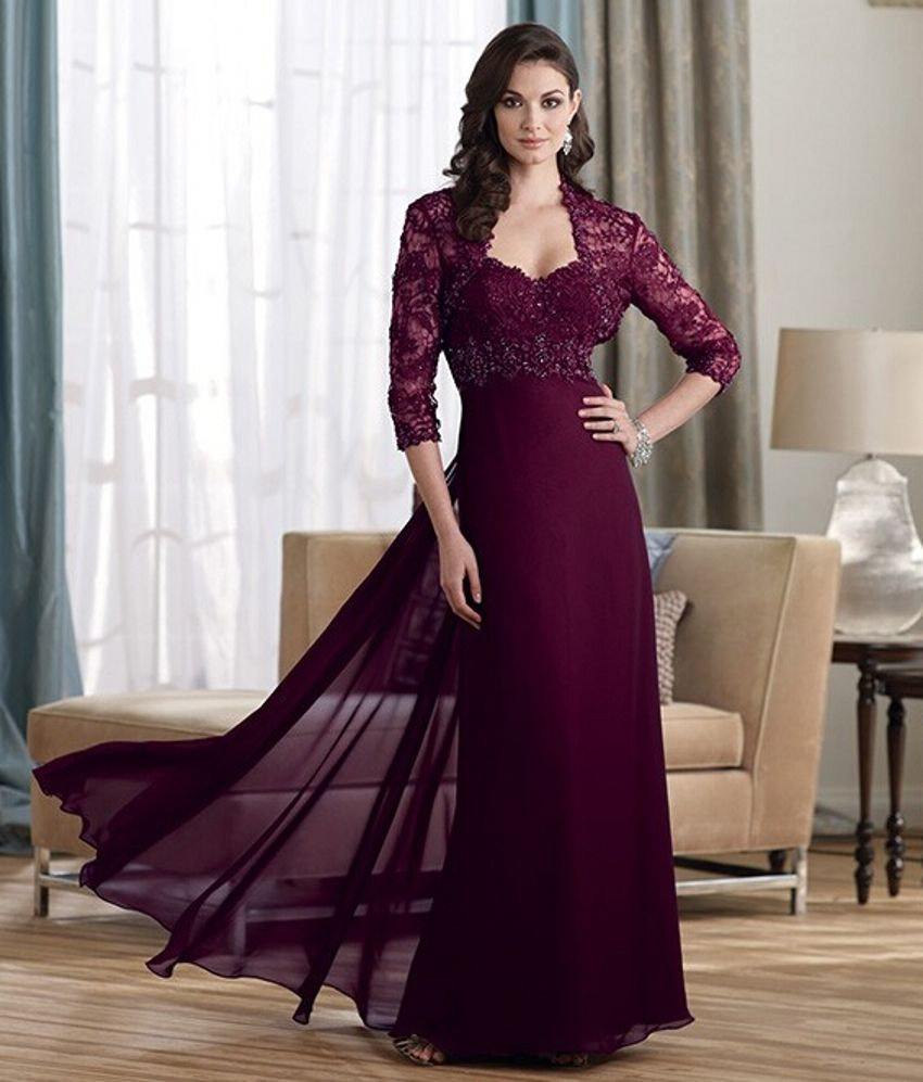 Pant dresses weddings  Click to Buy ucuc Burgundy Elegant Dress for Mother of the Bride Lace