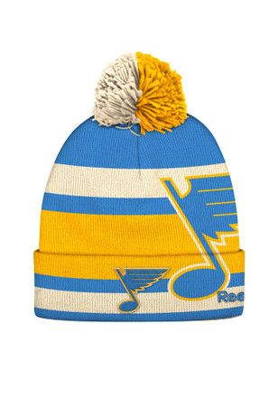853a9b35048c6d Reebok St Louis Blues Blue 2017 Winter Classic Player Cuff Knit Hat