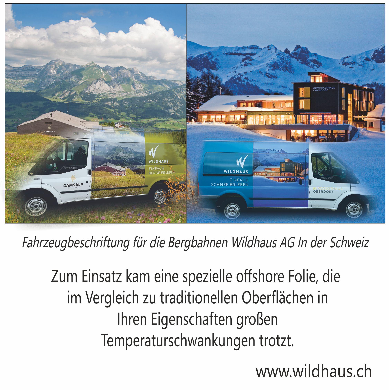 Fahrzeugbeschriftung Fur Die Bergbahnen Wildhaus Ag In Der Schweiz Zum Einsatz Kam Eine Spe Mit Bildern Aufkleber Drucken Aufkleber Selbst Gestalten Fahrzeugbeschriftung