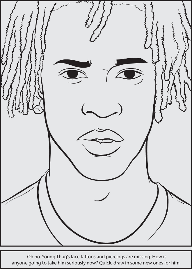 Rap Coloring And Activity Book Outline Drawings Africa Art Coloring Pages For Boys