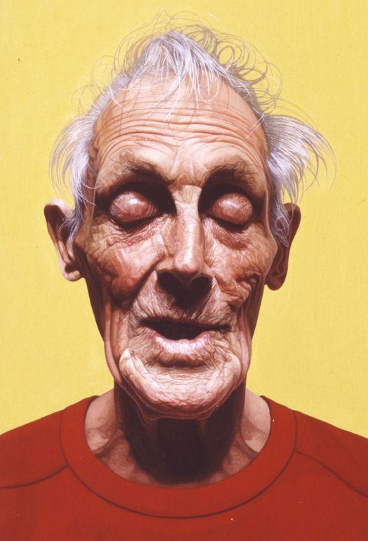 "Saatchi Art Artist: Philip Harris; Oil 1996 Painting ""Portrait of John Leather (Detail)"""