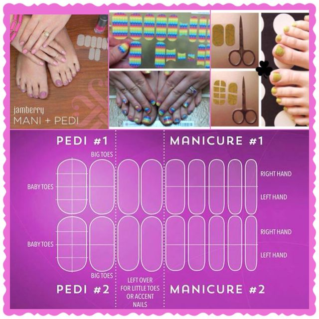 What you can get out of 1 sheet of Jamberry wraps!