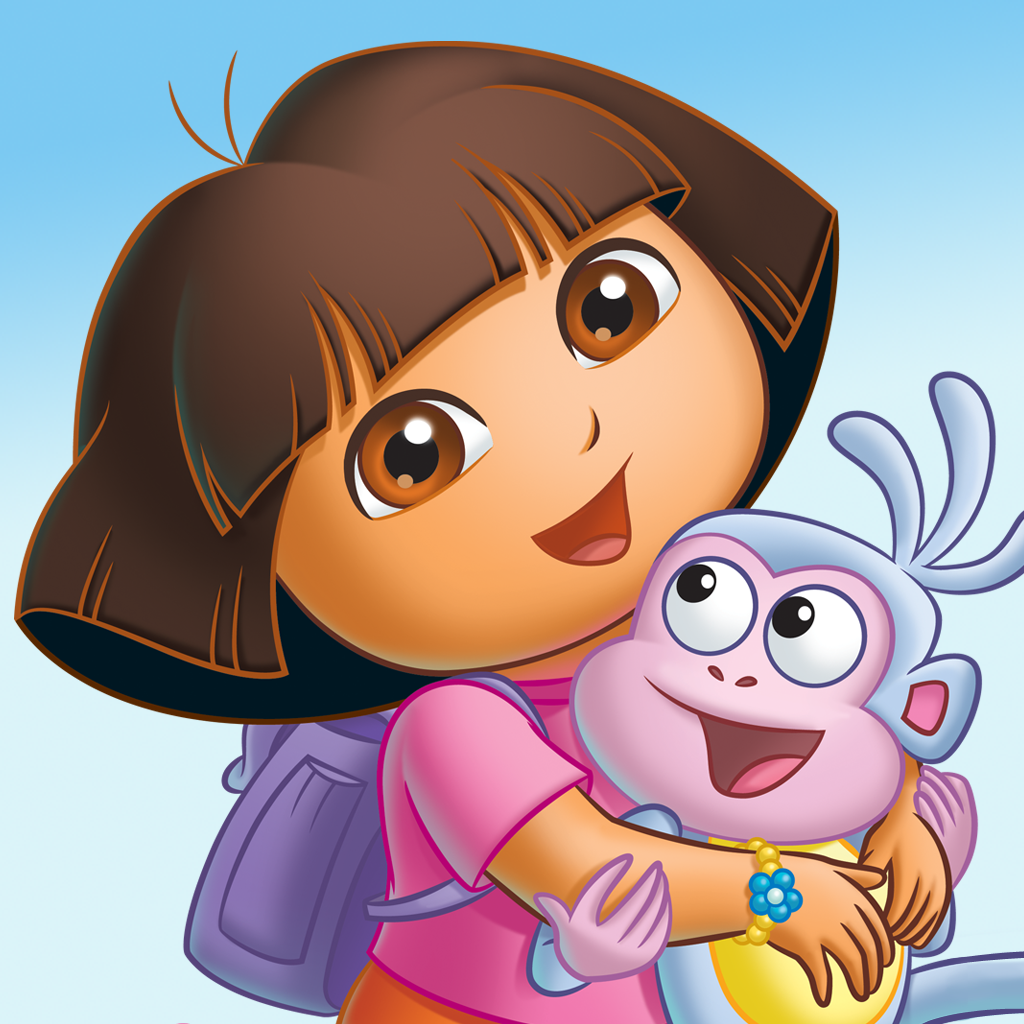 Boots and Dora in Dora the Explorer Series Free Wallpaper For Iphone
