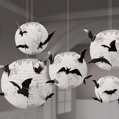 Dark Manor Bat Paper Lanterns 5ct Party