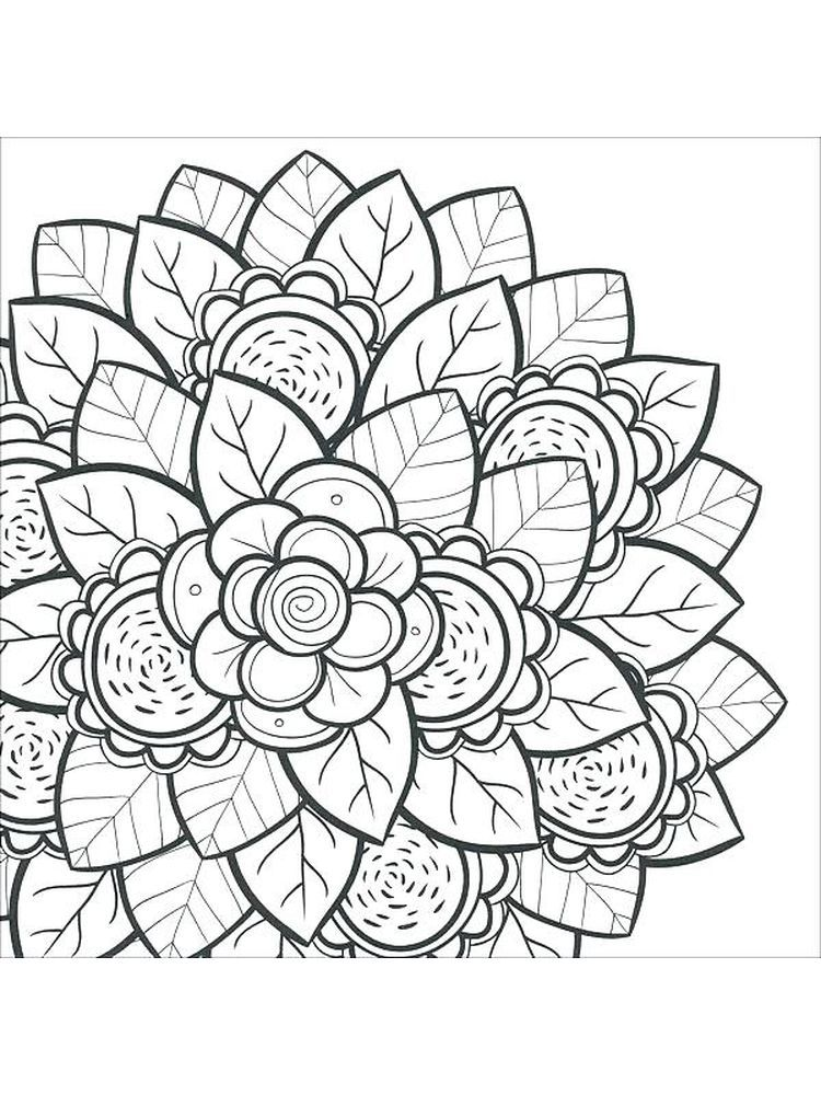 Hard Image Coloring Pages Flower Below Is A Collection Of Hard Image Coloring Page Which You Can Down Coloring Book Pages Coloring Books Flower Coloring Pages