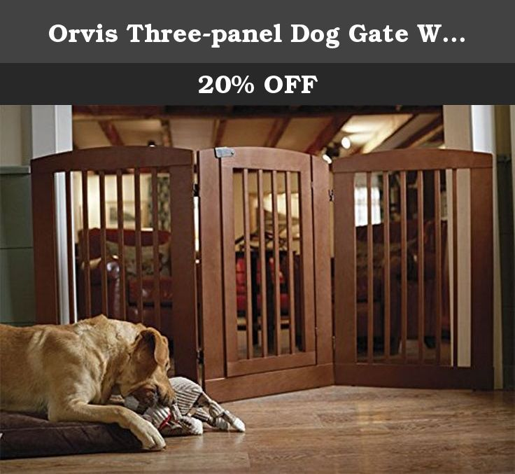 Orvis Three Panel Dog Gate With Door 36 H Gate Cinnamon For The Majority Of Areas In The Home That Require A Dog Gate With Door Dog Gate Wooden Dog Kennels