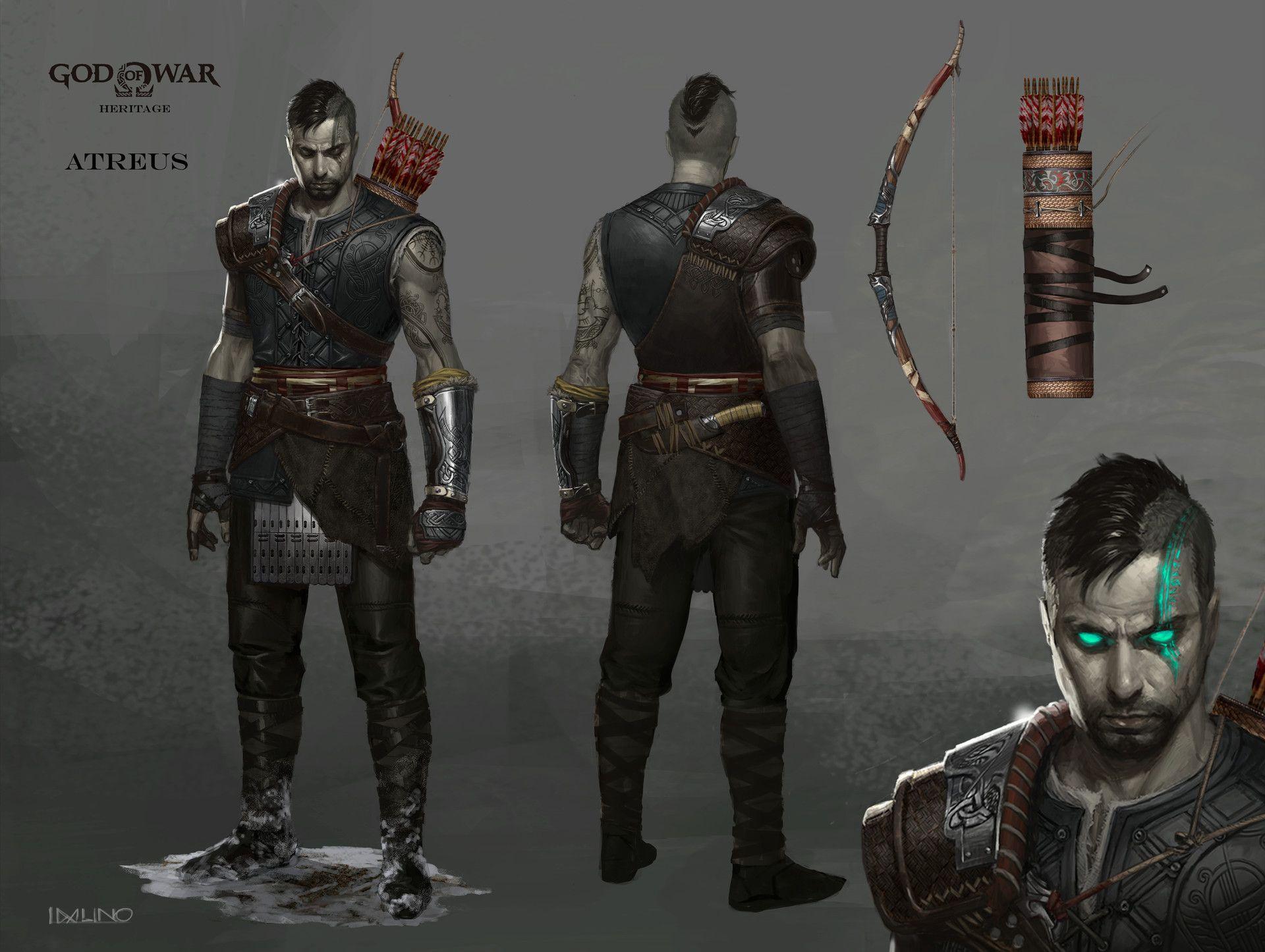 Artstation God Of War Heritage Atreus Visual Development